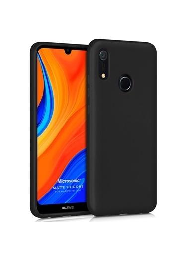 Microsonic Matte Silicone Huawei Y6s 2019 Kılıf Siyah Siyah